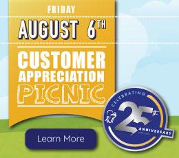 Customer Appreciation Picnic Celebrating 25 Years