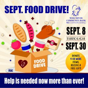 Food Drive at Wolf River Community Bank