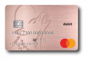 Rose Gold Debit Card