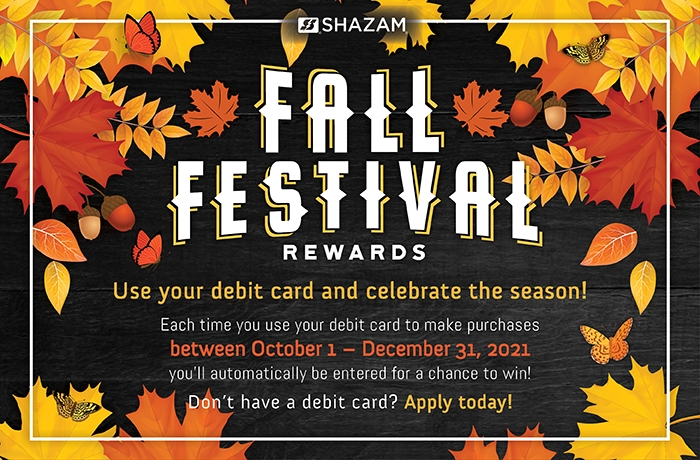 Fall Festival Debit Card Rewards